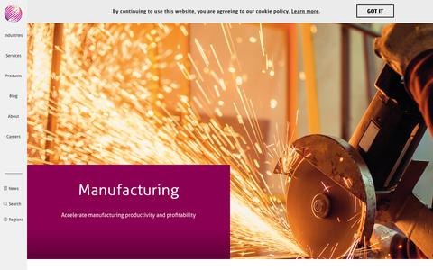 Manufacturing Technology & Software Solutions | Mindtree