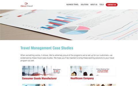 Screenshot of Case Studies Page dt.com - Travel Management Case Studies - captured Oct. 12, 2017