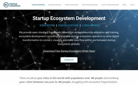 Screenshot of Home Page startupcommons.org - Startup Commons - Startup Commons - captured Dec. 12, 2018
