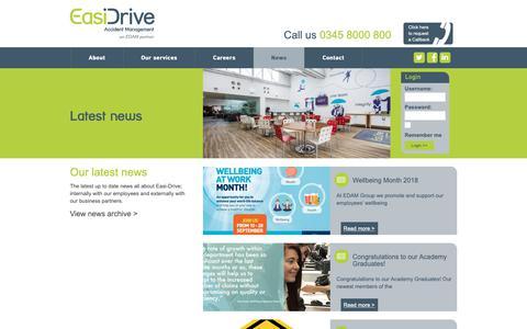 Screenshot of Press Page easidrive.com - News   EasiDrive - captured Sept. 26, 2018