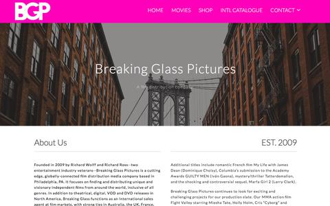 Screenshot of About Page bgpics.com - About Us - Breaking Glass Pictures - captured Jan. 29, 2018