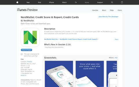 NerdWallet: Credit Score & Report, Credit Cards on the App Store