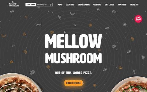 Screenshot of Home Page mellowmushroom.com - Mellow Mushroom | Out Of This World Pizza - captured Sept. 22, 2018