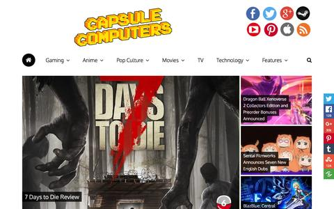 Screenshot of Home Page capsulecomputers.com.au - Capsule Computers – Gaming & Entertainment News, Reviews, Interviews & Competitions - captured July 11, 2016