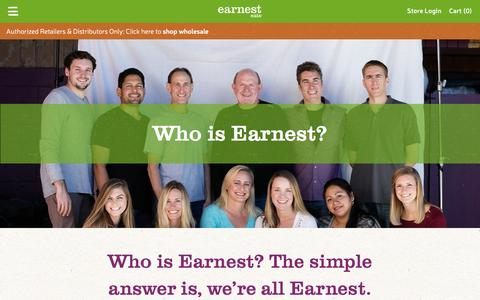 Screenshot of About Page earnesteats.com - About • Earnest Eats - captured July 10, 2016