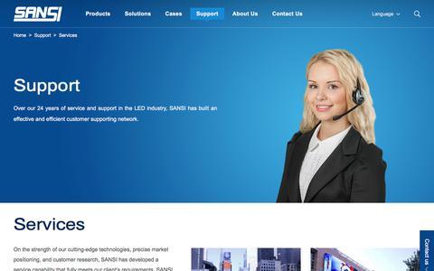 Screenshot of Services Page sansitech.com - Services|Sansi - captured July 6, 2017