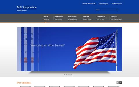 Screenshot of Home Page m3tcorporation.com - Premier provider of physical & cyber security, video surveillance, access control, vehicle gates, automatic dooors, networking solutions and more... | M3T Corporation - captured May 17, 2017