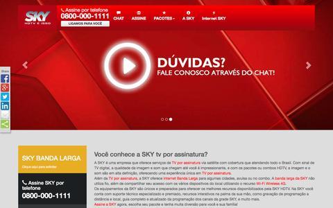 Screenshot of Home Page skycentraldeassinatura.com.br - Sky Central de Assinatura TV por assinatura Assine SKY HDTV. - captured March 13, 2016