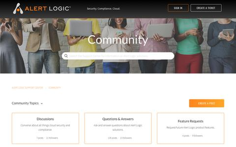 Alert Logic Support Center