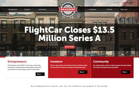 Screenshot of Home Page brandery.org - Home — Brandery - captured Sept. 25, 2014