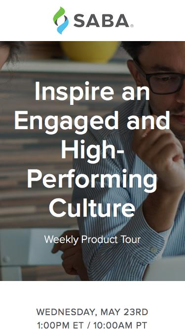 Product Tour - Inspire an Engaged and High-Performing Culture