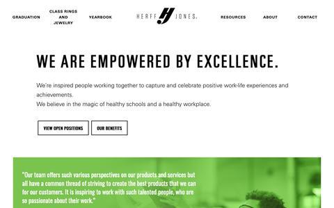 Screenshot of Jobs Page herffjones.com - Careers - Herffjones.com - captured Jan. 21, 2019