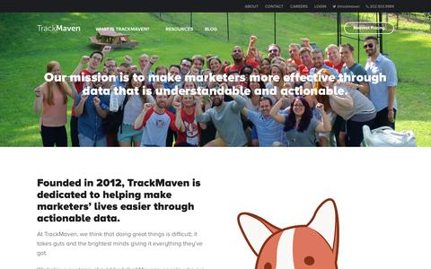 Screenshot of About Page trackmaven.com - About – TrackMaven - captured July 3, 2015