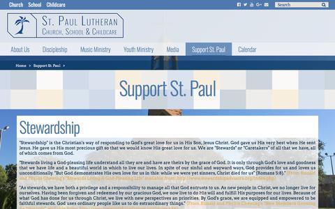 Screenshot of Support Page stpaulmcallen.org - Support St. Paul – St. Paul Lutheran Church – McAllen TX - captured Feb. 17, 2018
