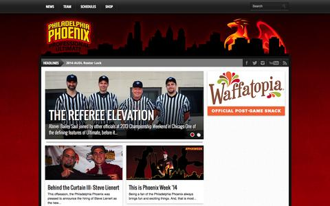Screenshot of Blog phlphoenix.com - Phoenix Blog | Philadelphia Phoenix :: AUDL - captured Oct. 2, 2014