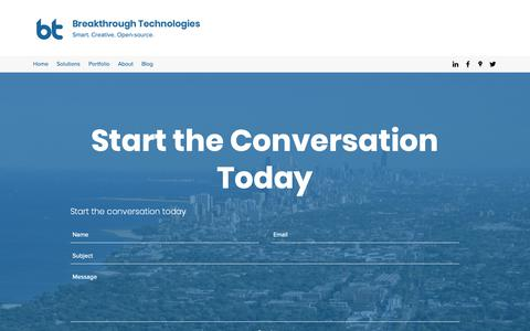Screenshot of Contact Page breaktech.com - Contact  | Breakthrough Technologies - captured Feb. 12, 2019