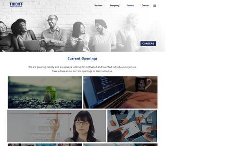 Screenshot of Jobs Page thidiff.com - ThiDiff - Careers - captured Dec. 23, 2016