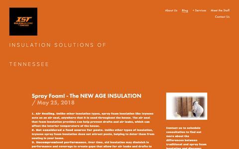 Screenshot of Blog insulationtn.com - Blog — Insulation Solutions of TN, LLC - captured Oct. 12, 2018