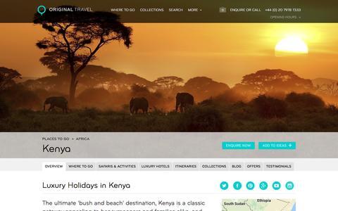 Luxury Holidays Kenya | Amazing Safari Holidays & More