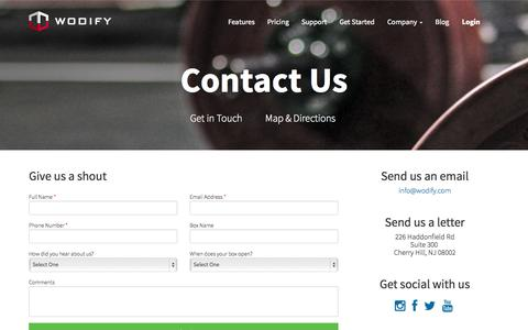 Screenshot of Contact Page wodify.com - Contact Wodify - Software for Box Owners and their Athletes - captured Oct. 26, 2014