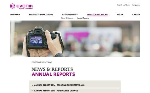 Annual Reports - Investor Relations - Evonik Industries AG