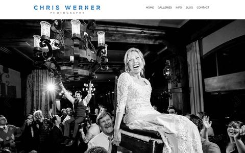 Screenshot of Home Page chriswernerphoto.com - Lake Tahoe Wedding Photographer: Chris Werner Photography - captured June 16, 2019