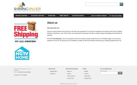 Screenshot of About Page shiningvalues.com - About us – Shining Values.com - captured Oct. 26, 2014
