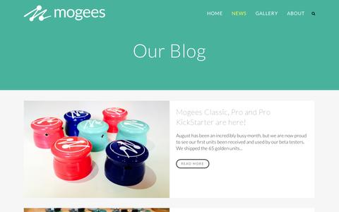 Screenshot of Blog mogees.co.uk - Mogees |   Our Blog - captured Oct. 7, 2014