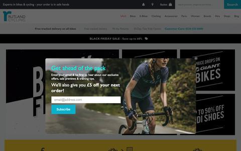 Screenshot of Home Page rutlandcycling.com - Bike Shop   Road, Mountain & Urban Bikes   Rutland Cycling - captured Nov. 13, 2018