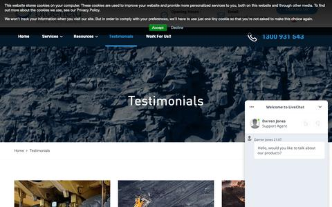 Screenshot of Testimonials Page bluefield.com.au - Client Testimonials | Bluefield Asset Management - captured Oct. 6, 2018