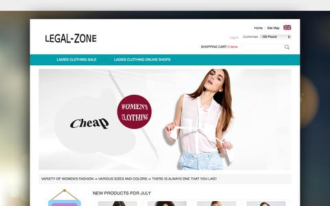 Screenshot of Home Page legal-zone.co.uk - Women - sell clothes online for cheap! | legal-zone.co.uk - captured July 17, 2018