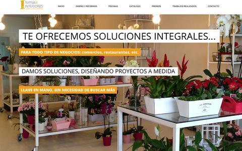 Screenshot of Home Page formaseinteriores.com - Reformas y Diseño de Interiores | Damos forma a tus diseños - captured Sept. 30, 2014
