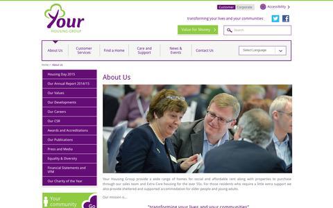 Screenshot of About Page yourhousinggroup.co.uk - About Your Housing Group | Your Housing Group - captured Jan. 10, 2016