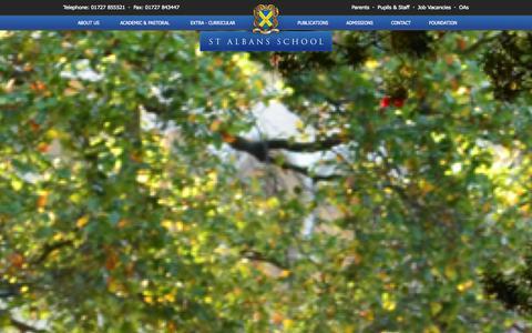 Screenshot of Menu Page st-albans.herts.sch.uk - Mobile Navigation | St Albans School - captured Oct. 7, 2014
