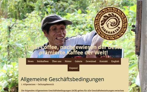 Screenshot of Terms Page kaffee-sid.com - Allgemeine Geschäftsbedingungen - Kaffee Siddhartha GmbH - captured Oct. 16, 2017