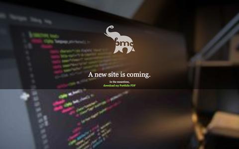 Screenshot of Home Page brettmarlin.com captured Nov. 23, 2016
