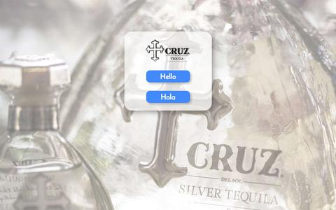 Screenshot of Home Page cruztequila.com - Start - captured July 23, 2018