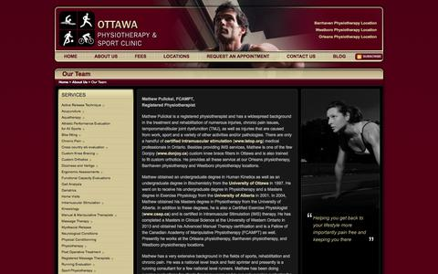 Screenshot of Team Page optsc.com - Registered Physiotherapists/Massage Therapists in Ottawa | Ottawa Physiotherapy & Sport Clinic - captured Oct. 26, 2014
