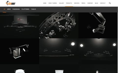 Screenshot of Products Page photorobot.com - PRODUCTS | PhotoRobot.com - captured Nov. 3, 2014