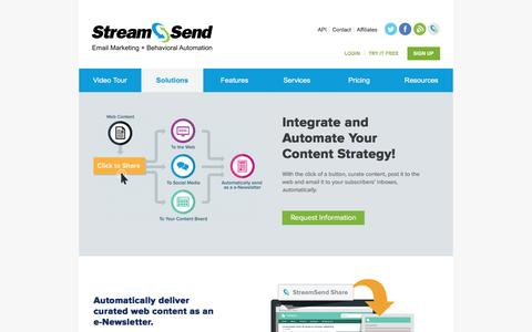 StreamSend | Integrate and Automate Your Content Strategy