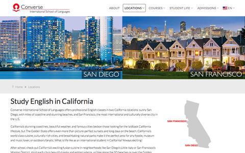 Screenshot of Locations Page cisl.edu - CISL English School Locations in California - captured Nov. 11, 2016