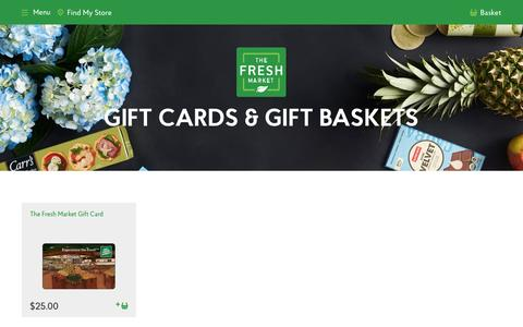 Gift Cards & Gift Baskets SEO - The Fresh Market