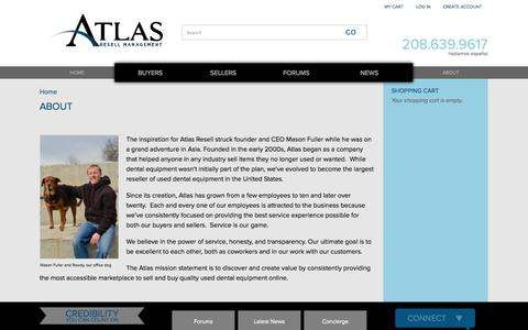 Screenshot of About Page atlasresell.com - About | Atlas Resell Management - captured Oct. 4, 2014