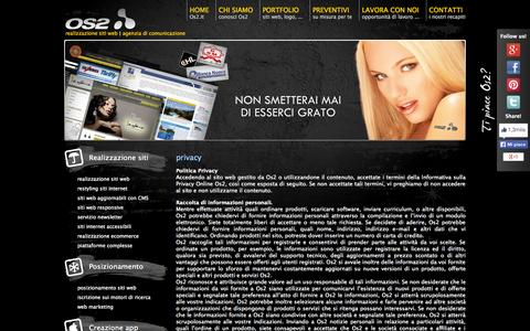 Screenshot of Privacy Page os2.it - privacy | Os2 Web Agency - captured Sept. 19, 2014