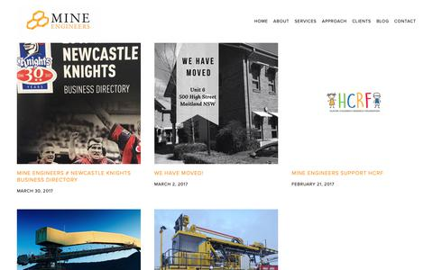 Screenshot of Blog mineengineers.com.au - Blog — Mine Engineers Pty Ltd - captured Oct. 18, 2018