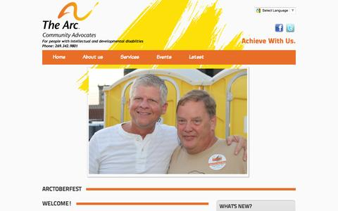 Screenshot of Home Page communityadvocates.org - Community Advocates The Arc of Kalamazoo - captured Oct. 6, 2014