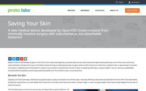 Screenshot of Case Studies Page protolabs.com - Case Study: Opus KSD - captured May 17, 2017
