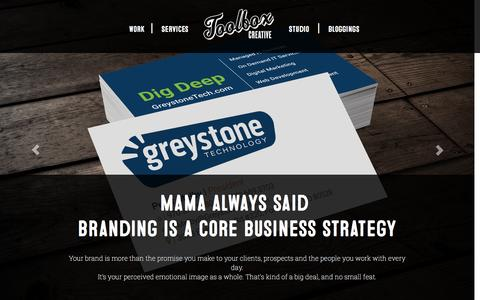Screenshot of Services Page toolboxcreative.com - Brand Development - Toolbox Creative Toolbox Creative - captured Dec. 5, 2015