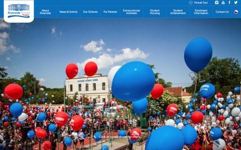 Screenshot of Home Page riversideschool.cz - Riverside International School in Prague - A unique international education in Prague - captured Sept. 23, 2018