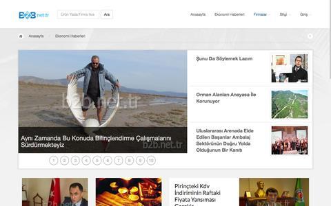Screenshot of Home Page b2b.net.tr - Ekonomi Haberleri - captured Jan. 22, 2015